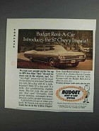 1968 Budget Rent-a-Car System Ad - Chevy Impala