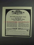 1968 Taco Bell Ad - South-of-the-Border Charm