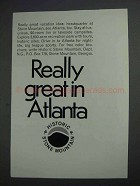 1968 Atlanta Georgia Ad - Really Great