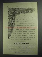 1892 Scott's Emulsion Ad - Driving, Pelting Rain