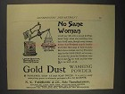 1892 Gold Dust Washing Powder Ad - No Sane Woman