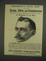 1892 Woodbury's Facial Soap Ad - Scalp, Skin
