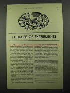 1932 Fels-Naptha Soap Ad - In Praise of Experiments