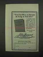1932 John Hancock Insurance Ad - As Long As You Live