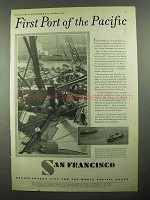 1931 San Francisco California Ad - Port of the Pacific