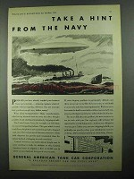 1931 General American Tank Car Ad - Hint From Navy