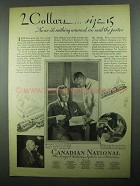 1931 Canadian National Railroad Ad - 2 Collars Size 15