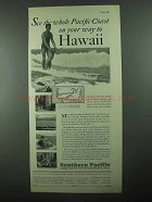 1931 Southern Pacific Railroad Ad - Way to Hawaii