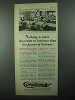 1931 Comptometer Ad - The Figures of Business
