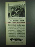 1931 Comptometer Ad - Cuts Figure Work Costs