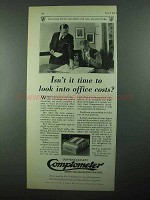 1931 Comptometer Ad - Look Into Office Costs