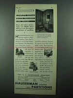 1931 Hauserman Partitions Ad - Complete Service