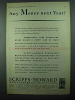 1931 Scripps-Howard Newspapers Ad - Money Next Year