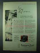 1931 Remington Rand Monarch Typewriter Ad - 27 Years