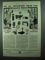 1931 IBM Ad - For an Organized Drive Greater Profits