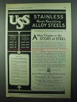 1931 U.S. Steel Chromium-Alloy Chromium-Nickel Steel Ad