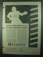 1931 Masonite Presdwood Ad - Industry Finds New Uses