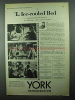 1931 York Air Conditioning Ad - The Ice-Cooled Bed
