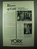 1931 York Refrigeration Ad - Rivers of Cold