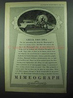 1931 A.B. Dick Mimeograph Ad - Check This Idea