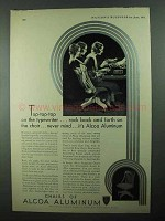 1931 Alcoa Aluminum Ad - Rock Back and Forth on Chair