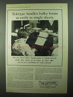 1931 Teletype Corporation Ad - Handles Bulky Forms