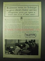 1931 Teletype Corporation Ad - Bradstreet Turns To