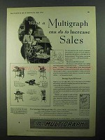 1931 Multigraph Ad - Model 100, 66, 60, 5200 Dupligraph