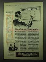 1931 Addressograph Company Ad - Cost of Slow Motion