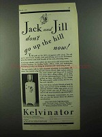 1931 Kelvinator Electric Water Cooler Ad, Jack and Jill