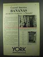 1931 York Air Conditioning Ad - Bananas Are Ripened