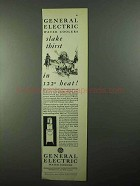1931 General Electric Water Cooler Ad - Slake Thirst