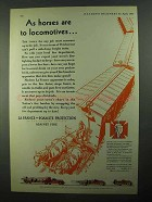 1931 La France and Foamite Fire Trucks Ad - As Horses