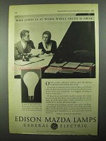 1931 General Electric Edison Mazda Lamps Ad - At Work