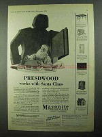 1931 Masonite Presdwood Ad - Works With Santa Claus
