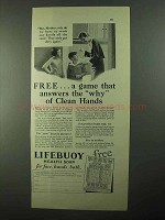 1931 Lifebuoy Soap Ad - Answers Why of Clean Hands