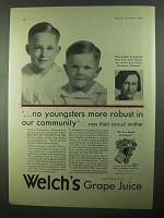 1931 Welch's Grape Juice Ad - Youngsters More Robust