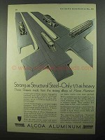 1931 Alcoa Aluminum Ad - Strong as Structural Steel