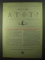 1931 AT&T Telephone Ad - What is the AT&T