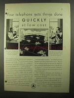 1931 Bell Telephone Ad - Gets Things Done Quickly