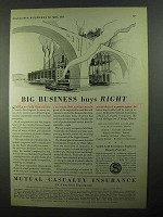 1931 Mutual Casualty Insurance Ad - Big Business Buys