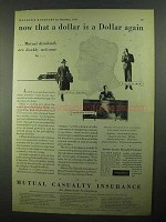 1931 Mutual Casualty Insurance Ad - That Dollar