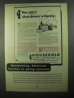 1931 Household Finance Corporation Ad - Can't Shut