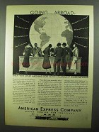 1931 American Express Company Ad - Going Abroad?
