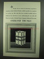 1931 Oshkosh Trunks Ad - Advertising Superlatives