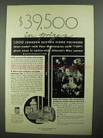 1931 Johnson Wax Ad - $39,500 in Prizes