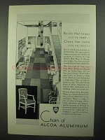 1931 Alcoa Aluminum Ad - Chairs That Invite You to Rest