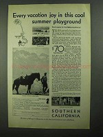 1931 Southern California Tourism Ad - Vacation Joy
