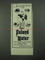 1931 Poland Spring Water Ad - Around the World With