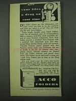 1931 Acco Folders Ad - A Drag on Your Time